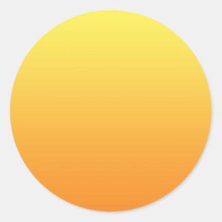 Yellow & Orange Ombre Classic Round Sticker