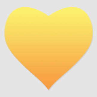 Yellow & Orange Ombre Heart Sticker