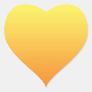 Yellow & Orange Ombre Heart Sticker