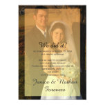 """Yellow Orange Ombre Overlay Photo Reception Only 5"""" X 7"""" Invitation Card"""
