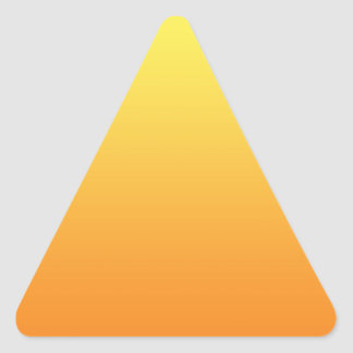Yellow & Orange Ombre Triangle Sticker