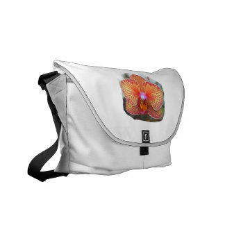 Yellow Orange Orchid Flower Picture Messenger Bag