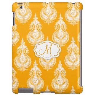 Yellow orange paisley pattern