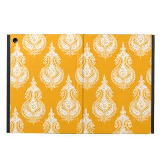 Yellow orange paisley pattern iPad air cases
