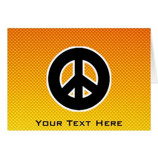 Yellow Orange Peace Sign Cards