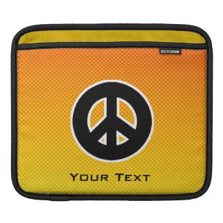 Yellow Orange Peace Sign Sleeve For iPads