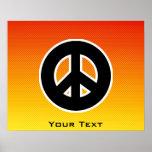 Yellow Orange Peace Sign Print