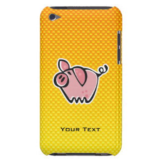 Yellow Orange Pig iPod Touch Cases