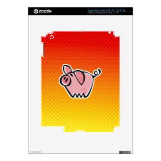 Yellow Orange Pig iPad 3 Skin
