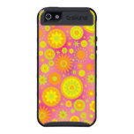 Yellow Orange & Pink Hippy Flower Pattern iPhone 5 Covers