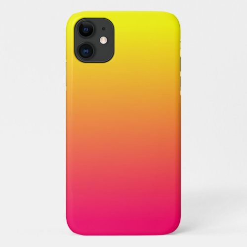 Yellow Orange Pink Ombre Phone Case