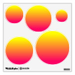 Yellow Orange Pink Ombre Wall Graphics