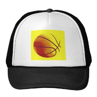 Yellow Orange Pop Art Basketball Trucker Hat