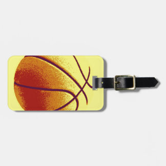 Yellow Orange Pop Art Basketball Tag For Luggage