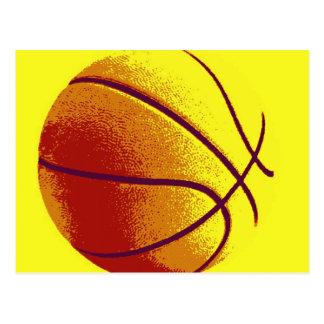 Yellow Orange Pop Art Basketball Postcard