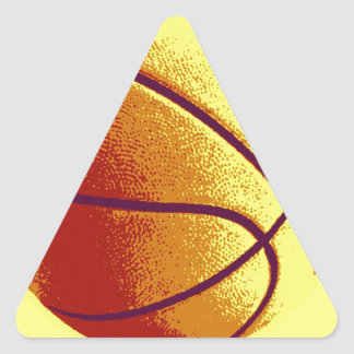 Yellow Orange Pop Art Basketball Triangle Sticker