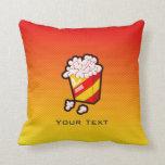 Yellow Orange Popcorn Throw Pillow