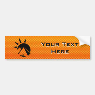 Yellow  Orange  Pyramid Bumper Sticker