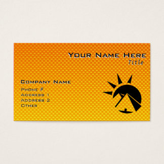Yellow  Orange  Pyramid Business Card