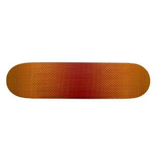 Yellow-orange-red dots custom skateboard