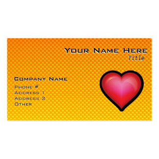 Yellow Orange Red Heart Business Card Templates
