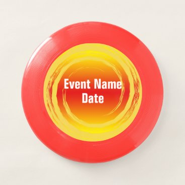 Beach Themed Yellow Orange Red Spinning Swirling Event Template Wham-O Frisbee