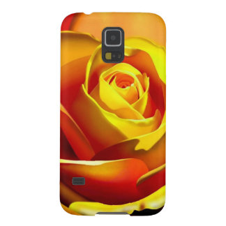 Yellow Orange Rose Case For Galaxy S5