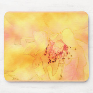 Yellow Orange Rose Center Mouse Pad