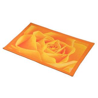 Yellow Orange Rose Cloth Placemat