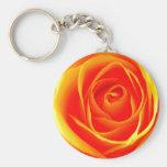 Yellow-Orange Rose Keychain