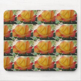 """Yellow Orange Rose """"Loving You"""" Mousepad"""