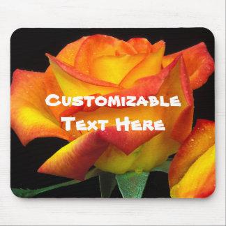 Yellow Orange Rose Mouse Pad