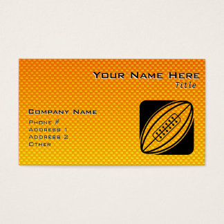 Yellow Orange Rugby Business Card