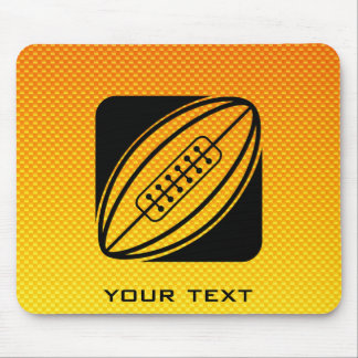 Yellow Orange Rugby Mousepads