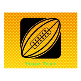 Yellow Orange Rugby Post Card