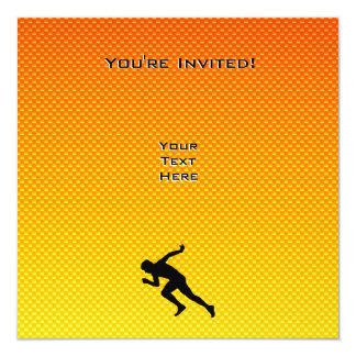 Yellow Orange Running Invitation