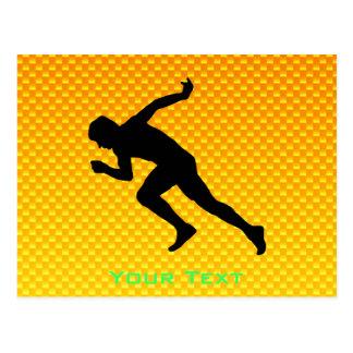 Yellow Orange Running Post Card
