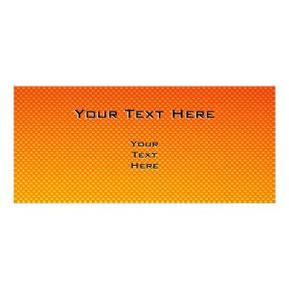 Yellow Orange Running Rack Card