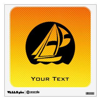 Yellow Orange Sailing Wall Graphic