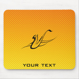 Yellow Orange Saxophone Mouse Pad