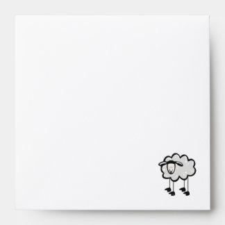 Yellow Orange Sheep Envelopes