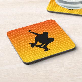 Yellow Orange Skateboarding Coaster