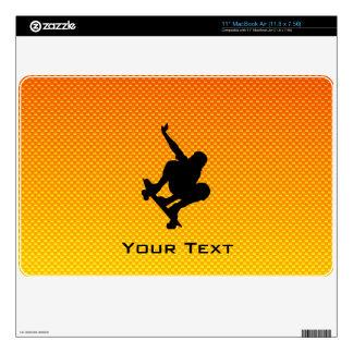 Yellow Orange Skateboarding MacBook Skin