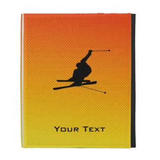Yellow Orange Snow Skiing iPad Cases
