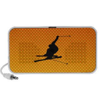Yellow Orange Snow Skiing Speaker