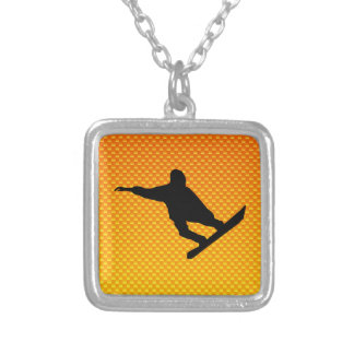 Yellow Orange Snowboarding Custom Jewelry