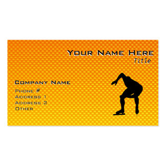 Yellow Orange Speed Skater Business Card
