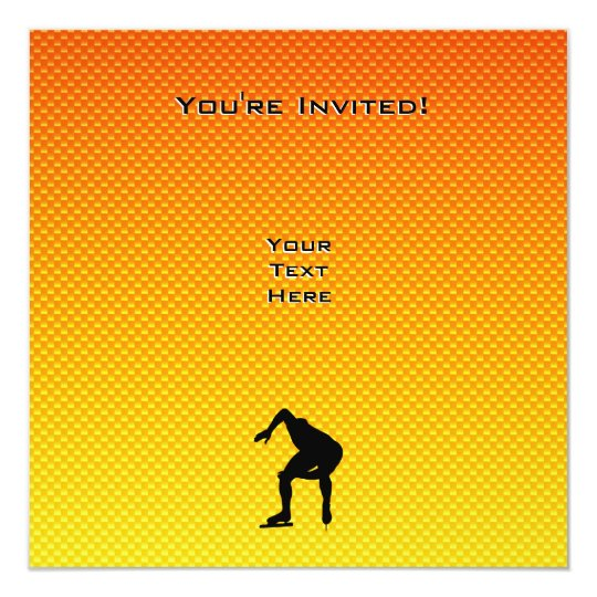 Yellow Orange Speed Skater Card
