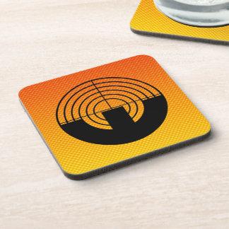 Yellow Orange Sport Shooting Beverage Coaster