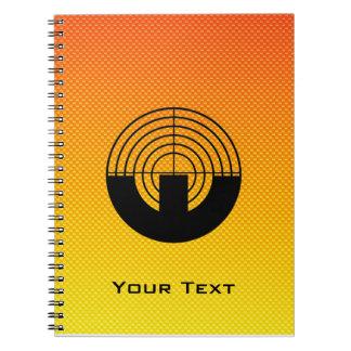 Yellow Orange Sport Shooting Notebook